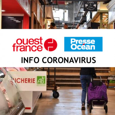 Info Coronavirus - Ouest France Marché de Talensac