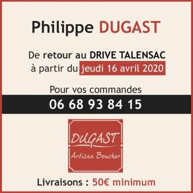 Philippe Dugast de retour au Drive Talensac à partir du 16 avril