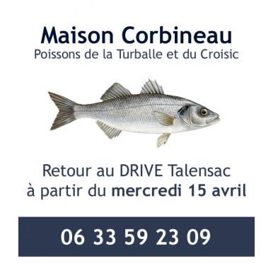 Corbineau poissons de retour au Drive