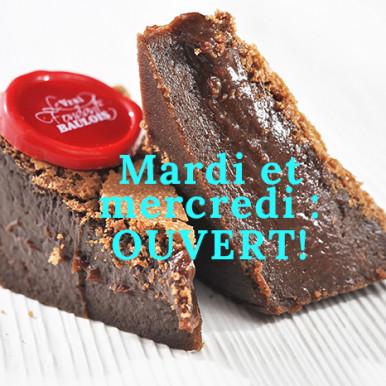 Mardi et Mercredi : ouverture!