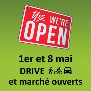 Drive Talensac et marché ouverts les 1er et 8 mai