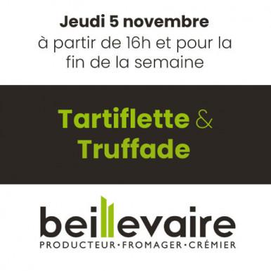 Tartiflette et Truffade chez Beillevaire !