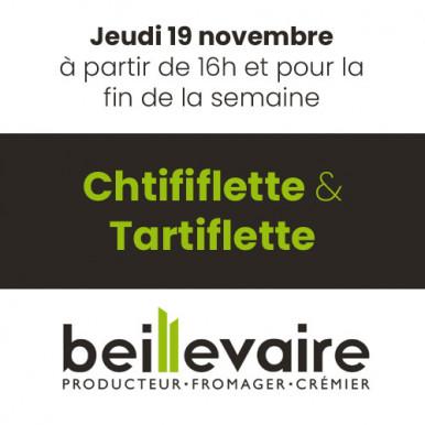 Chtififlette et tartiflette chez Beillevaire !
